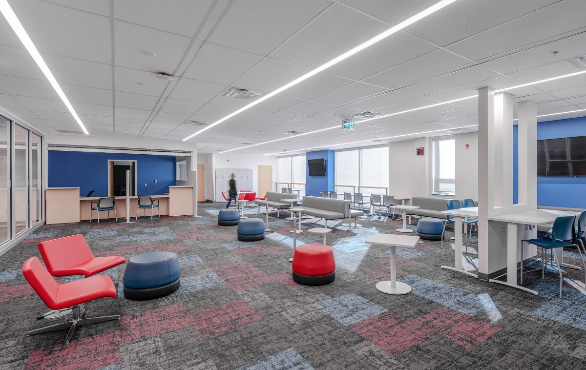 Interior Photography of Western's North Campus Building 2nd Floor Renovation