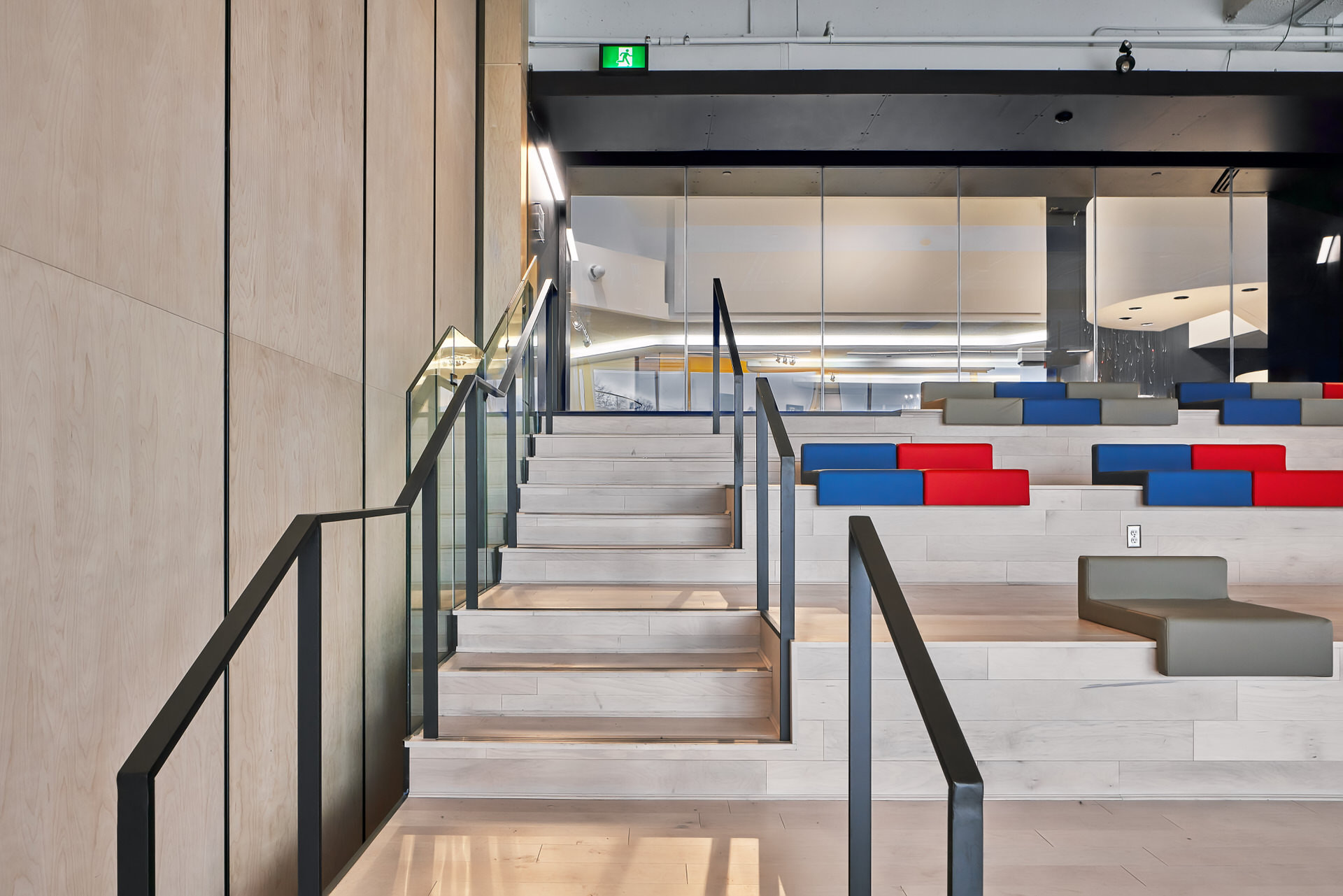 Interior architectural staircase photo at Museum London by Scott Webb Photography
