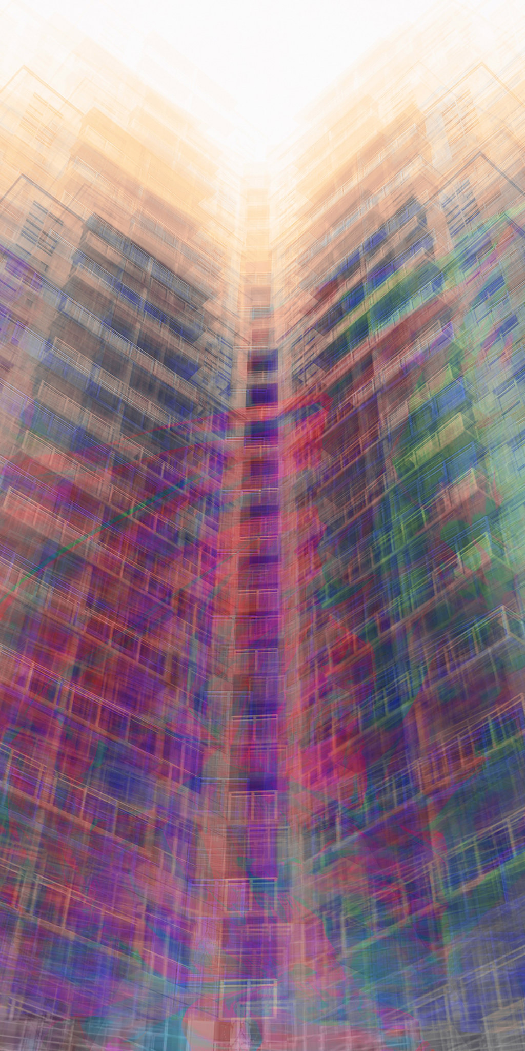 Abstract architecture art of Hyde Park Apartments