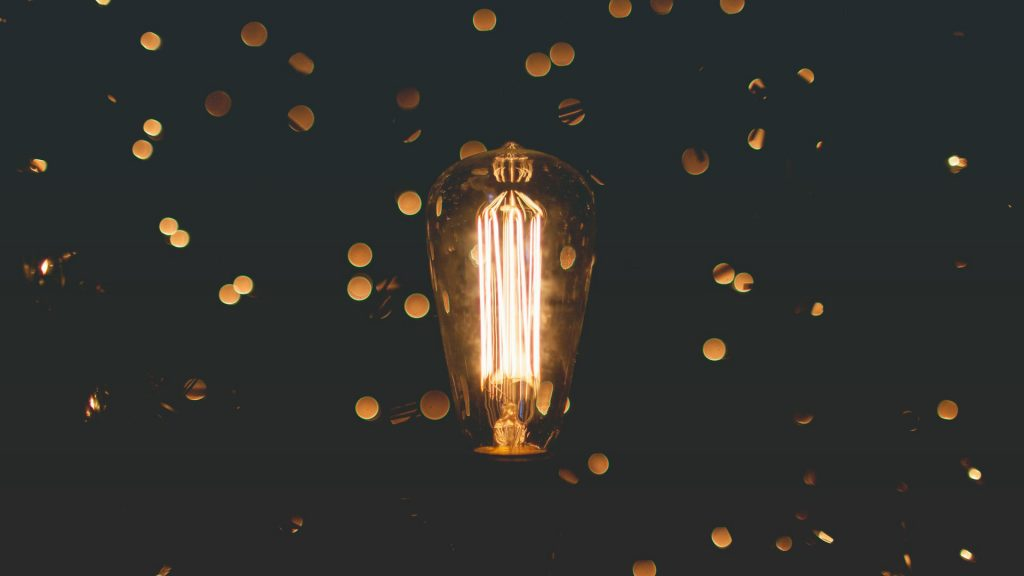 photo of lightbulb for ideas on the Unsplash API and Zapier